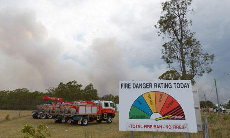 Heatwave in Australia : Bushfires in South Wales