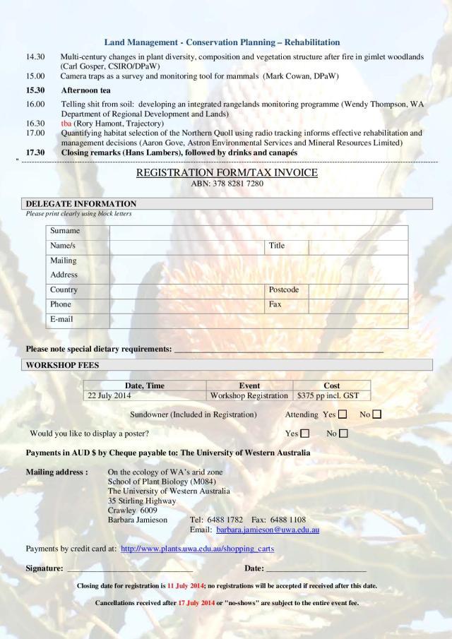 Kwongan workshop on ecology or the arid zone-page-2